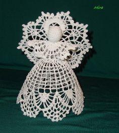angel 2 Crochet Angel Pattern, Crochet Angels, Crochet Diagram, Crochet Motif, Crochet Designs, Knit Or Crochet, Crochet Baby, Crochet Christmas Ornaments, Christmas Crochet Patterns