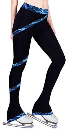 Figure Skating Spiral Polartec Polar Fleece Pants  Lighting Foil Blue Adult Small * More info could be found at the image url. (This is an affiliate link) #IceSkatingClothing