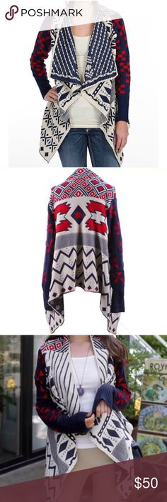 Navajo Indian style waterfall open sweater NWT Beautiful cardigan sweater perfect for this fall and winter independent designer Sweaters Cardigans