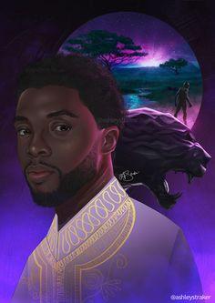 Ashley Straker African American Art, African Art, Black Women Art, Black Art, Black Panther Chadwick Boseman, Brown Art, Afro Art, Cartoon Art, Female Art