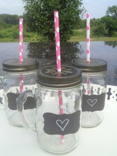 Mason Jar Sets with chalkboard name tags! You get a set of 6 of these for only $10 on Jane.com! Perfect for a party I have coming up!