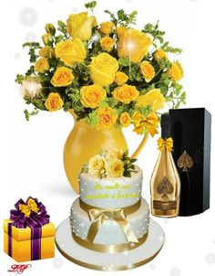 Birthday Greetings, Birthday Wishes, Happy Birthday, Cadeau Parents, Happy B Day, Birthdays, Table Decorations, Sagittarius, Flowers