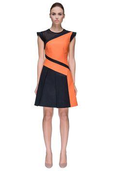 'Orange Desire' Petal Sleeve Party Dress