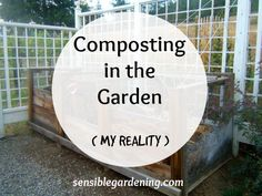 Composting in the Garden with Sensible Gardening