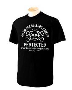 S-XL American Bulldog Rescue Gildan Black UNISEX t-shirt fundraiser for Rescue group S-XL via Etsy