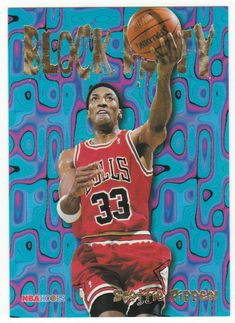 Scottie Pippen # 3 - 1995-96 Skybox Hoops Basketball Block Party