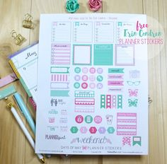 Pretty days of May planner stickers. Vintage Glam suggests using Avery Sticker Paper (3383) for the free printable, but any Avery Full-Sheet Label will do. Just print, cut and apply.