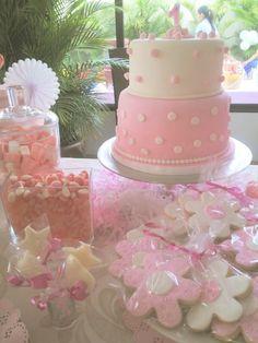 Cumpleaños niña torta y galletas vintage
