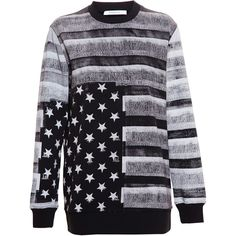 Givenchy American Flag Sweatshirt ($675) ❤ liked on Polyvore featuring tops, hoodies, sweatshirts, sweaters, usa flag sweatshirt, givenchy, oversized tops, givenchy sweatshirt and american flag top