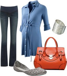 """Blue Casual"" by pregnantchicken on Polyvore #Maternity"