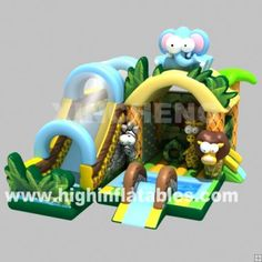 Inflatable safari park combo