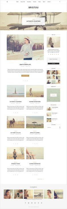 Bristou is a wonderful 3in1 responsive HTML #Bootstrap template for personal #blogging websites download now➩ https://themeforest.net/item/bristou-blog-html-template/19132147?ref=Datasata