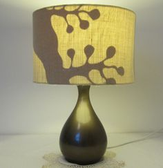 Natural Hessian and Paper Silhouette Lampshade- 30cm Diameter £30.00