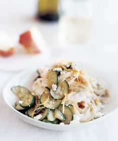 Pasta With Zucchini and Goat Cheese