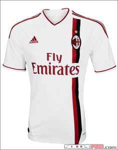 adidas Youth AC Milan Away Jersey 2012 - White with Red and Black...$38.49