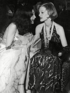1974, Loulou de la Falaise with Marisa Berenson