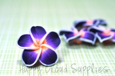 Large Deep Purple Orange and White Polymer by HappyCloudSupplies, $3.00