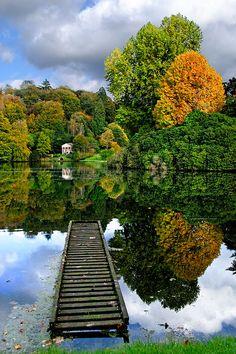 Classic autumnal beauty, Stourhead, Wiltshire, UK