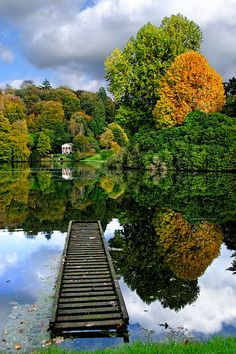 Classic autumnal beauty at Stourhead, Wiltshire, UK