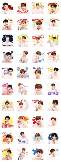 EXO's special stickers are out! Make your daily chat joyful with XIUMIN, SUHO, BAEKHYUN, CHEN, CHANYEOL, D.O., KAI and SEHUN!