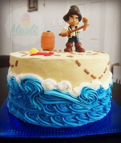 Pirate Buttercream Cake on Cake Central