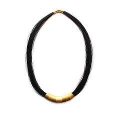 Image of Black Ellypse Necklace