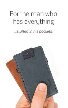 Wally Micro is for the minimal-wallet enthusiast. Perfect for storing business cards, or just the essentials.