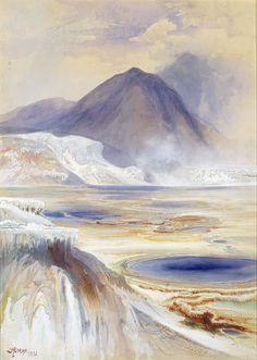 Thomas Moran, Mammoth Hot Springs, Yellowstone, 1872
