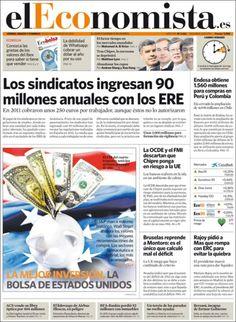 Los Titulares y Portadas de Noticias Destacadas Españolas del 30 de Marzo de 2013 del Diario El Economista ¿Que le parecio esta Portada de este Diario Español?