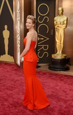 Jennifer Lawrence wearing Dior at the 2014 Oscars.
