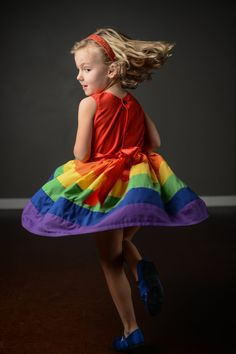Rainbow Dress sizes  5 6 7 8 by Rugrat Design Full twirly rainbow skirt with fully lined bodice. $42.00, via Etsy.