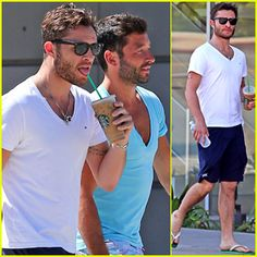 #Ed Westwick Stops by Starbucks After Chateau Marmont Visit --- More News at : http://RepinCeleb.com  #celebnews #repinceleb