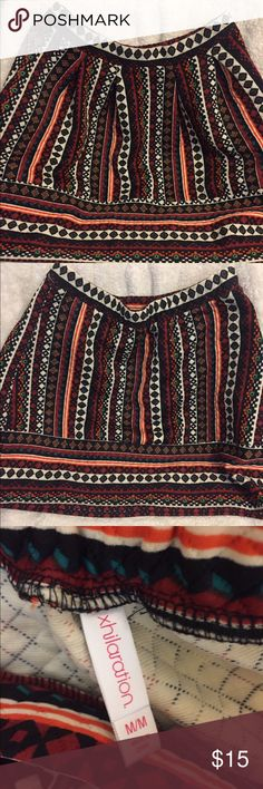 Xhilaration Skirt Multi-Colored High Waisted Skirt | Worn Once! | Bundle & Save! | Will Accept Reasonable Offers | Xhilaration Skirts