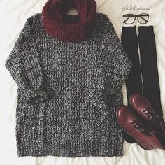 Comfy And warm sweater weather outfit!