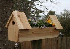 Pallet Planter Box, Wooden Planter Boxes, Wood Planters, Homemade Bird Houses, Bird Houses Diy, Crooked House, Bird House Feeder, Bird House Plans, Home Entertainment Centers