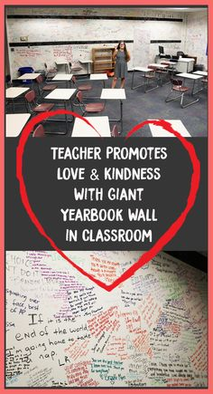 Teacher Promotes Love & Kindness With Giant Yearbook Wall in Classroom – Bored Teachers