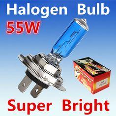 2 unids H7 55 W 12 V Bombilla Halógena Super Xenon Blanco Faros de niebla de alta Potencia Linterna Del Coche Lámpara de Fuente de Luz de estacionamiento Del Coche 6000 K auto