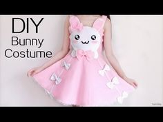 Cute Halloween DIY: Bunny Costume/Dress  Check out this cute DIY dress that doubles as a Halloween costume party dress.