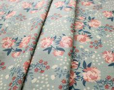 birch fabrics Acorn Trail Peonies Mint