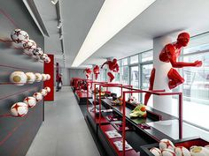 AC Milan headquarters by Fabio Novembre  Interesting column decorations...