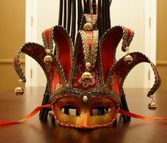 Mardi Gras Jester Mask