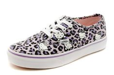 Hello Kitty Authentic Vans Era Leopard Print Purple Off the Wall Sneakers  [S14100905] -