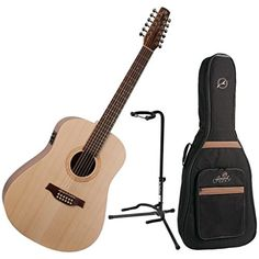 Seagull Excursion Walnut 12-String Acoustic Electric Guitar w/ Gig Bag and Guitar Stand >>> Click image for more details.