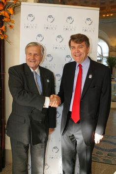 Jean-Claude Trichet, President of the European Central Bank; Thierry de Montbrial, President and Founder of the World Policy Conference