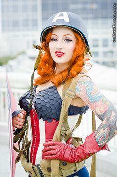 Astounding female Captain America #SDCC2012 #CosplayDoneRight #Cosplay by The.Erik.Estrada, via Flickr