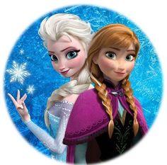"""Elsa and Anna - Frozen 2.25"""" Round Button"""