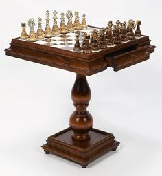 Alabaster Game Table Made In Italy