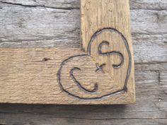 Rustic Wedding Barnwood Picture Frame 5x7 Woodburned Personalized Initials…