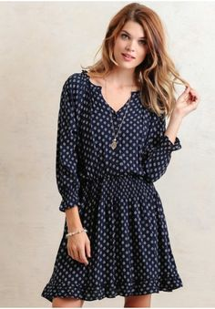Look Ahead Print Dress