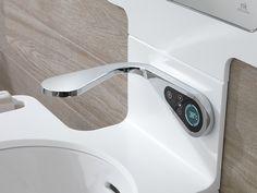 Futuro presente con la #grifería electrónica MOOD: controla caudal, uso y temperatura  #baños #diseño